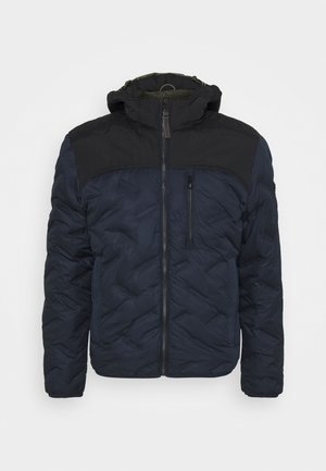 JACKET WITH HOODY - Winter jacket - navy