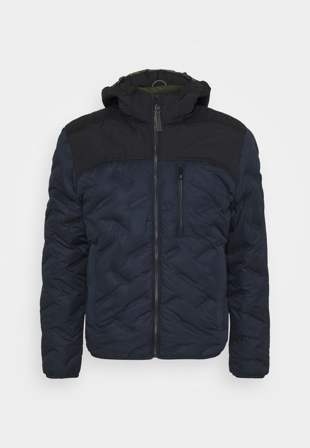 JACKET WITH HOODY - Winterjas - navy
