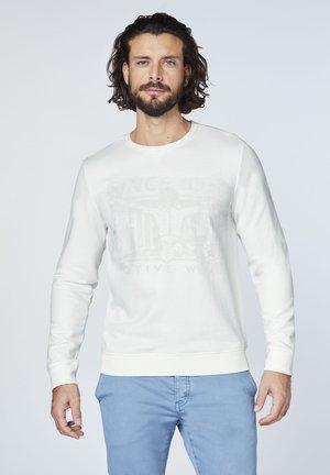 MIT SEITLICHEN SCHLITZEN - Sweatshirt - star white