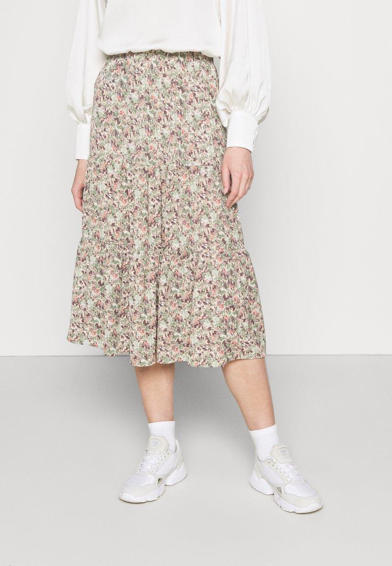 ONLY - ONLKENDALL SKIRT - A-line skirt - pumice stone/green