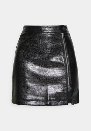 CROC ZIP - Minifalda - black