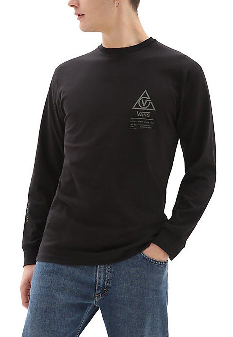 Vans - MN 66 SUPPLY LS - Print T-shirt - black
