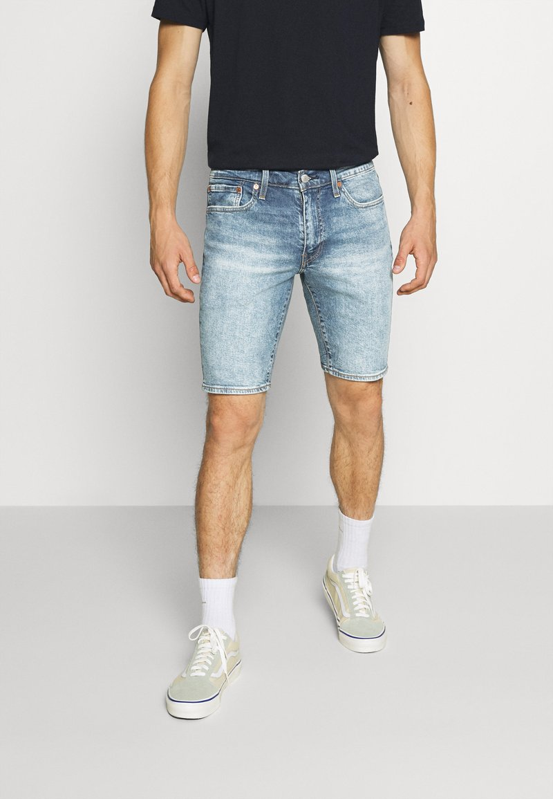Levi's® - 511™ SLIM HEMMED SHORT - Denim shorts - med indigo - worn in