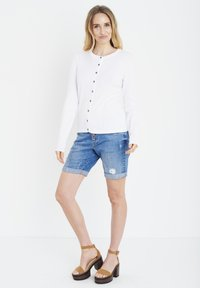 PULZ - SARA - Cardigan - bright white - 1