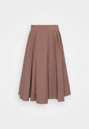 WOMENS SKIRT - Plisovaná sukně - brown