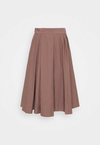 WOMENS SKIRT - Pleated skirt - brown