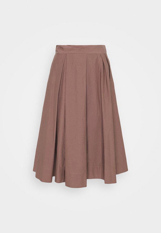 WOMENS SKIRT - Jupe plissée - brown