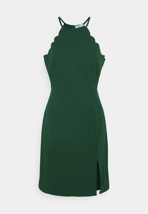 YELDA SCALLOP NECK MINI DRESS - Cocktail dress / Party dress - forest green