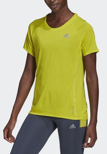 ADI RUNNER PRIMEGREEN RUNNING - T-shirts - yellow