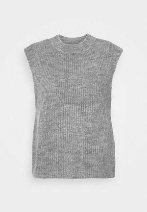 YASALLY  WAISTCOAT  - Print T-shirt - medium grey melange
