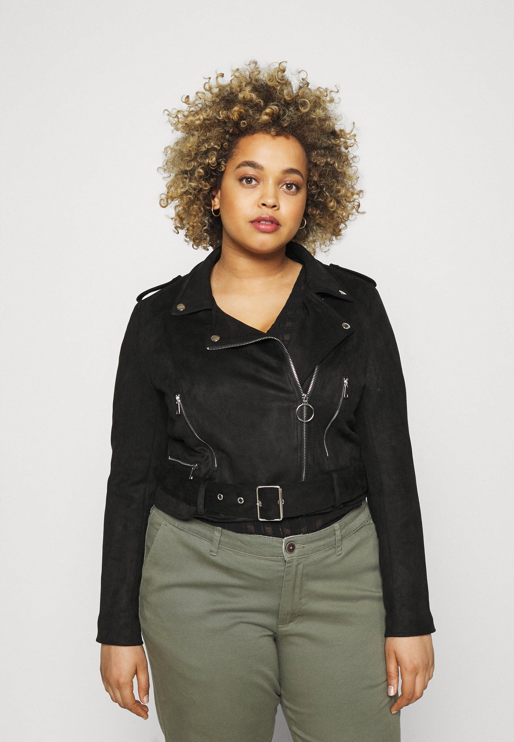 Women SUEDETTE BIKER - Faux leather jacket