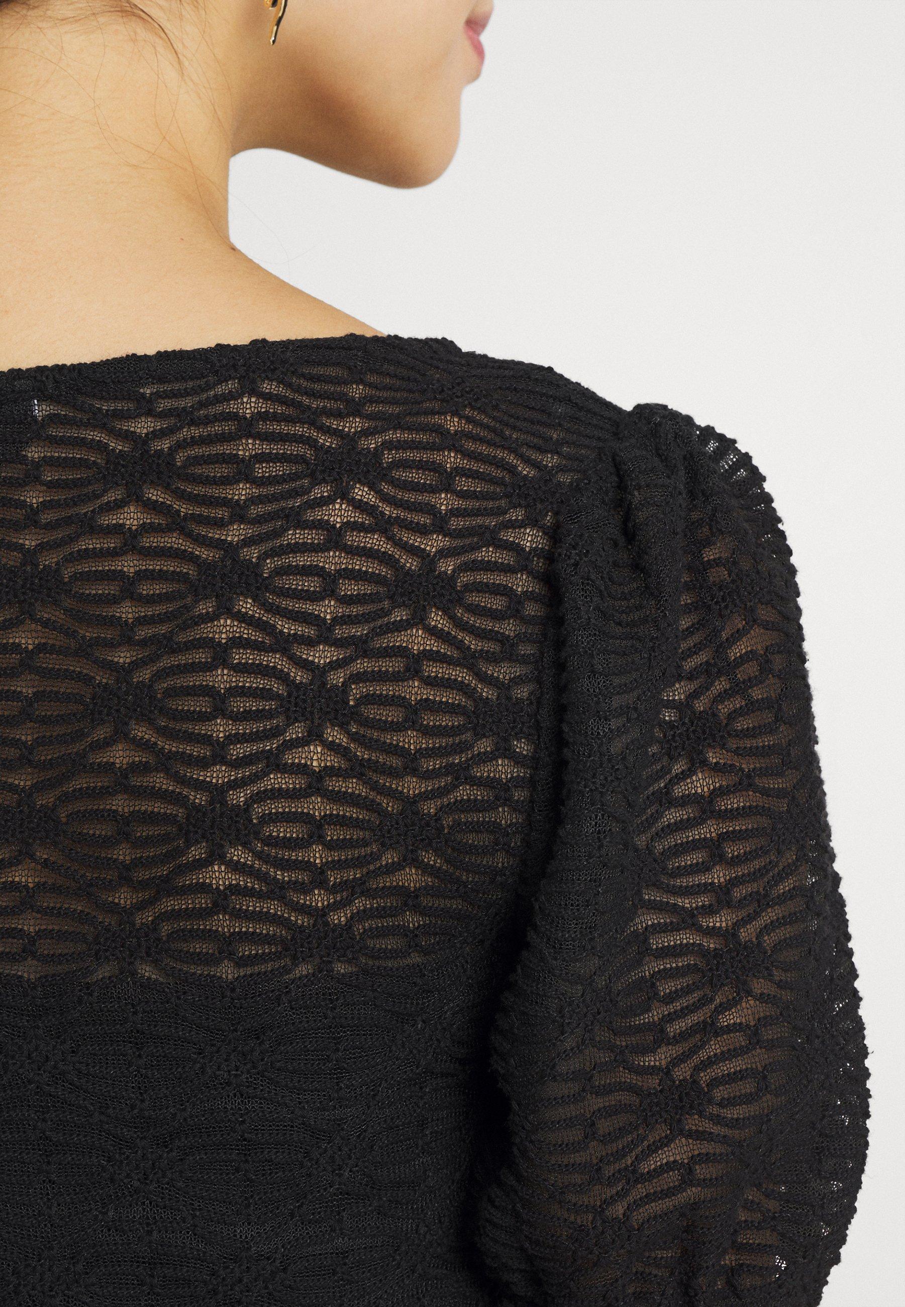 Donna PCFLORI V-NECK - T-shirt con stampa