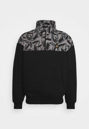 CONTEMPORARY MOCK NECK - Sweatshirt - black/gray