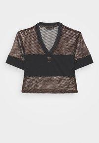 Fila - NIVEO CROPPED - Print T-shirt - black - 5