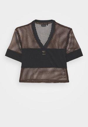 NIVEO CROPPED - Print T-shirt - black