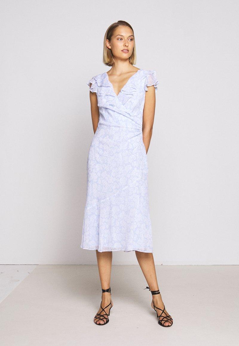 Lauren Ralph Lauren - PRINTED GEORGETTE DRESS - Day dress - whisper blue/colo