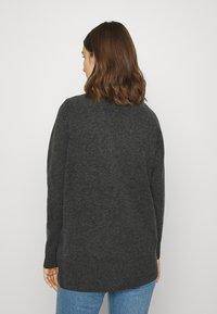 Selected Femme - SLFSTACEY KNIT  - Cardigan - dark grey melange - 2