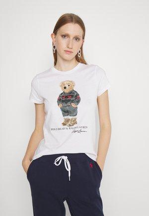 SKI SLEEVE - Print T-shirt - white