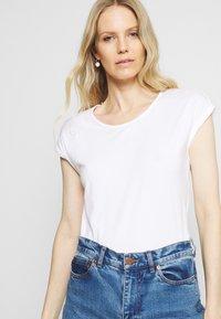 Anna Field - 3 PACK - T-shirts - black/white/mottled light grey - 3