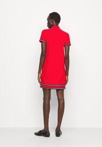 Pinko - FOOTBALL ABITO STRETCH - Shirt dress - red - 2