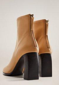 Mango - PUNTO - High heeled ankle boots - marrón medio - 3
