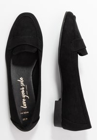 New Look Wide Fit - WIDE FIT LORNA - Slip-ons - black - 3