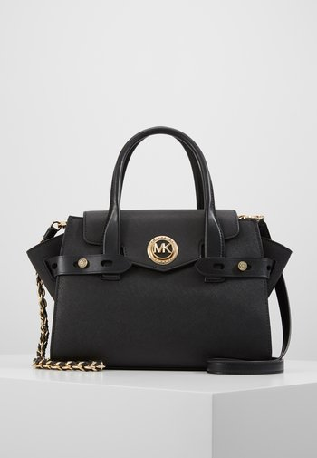 FLAP SATCHEL - Handbag - black
