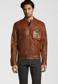 Capitano - NEBRASKA  - Leather jacket - mocca brown - 0