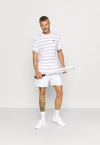 Nike Performance - STRIPES TEE - Print T-shirt - white - 1