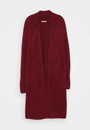 OPENFRONT - Cardigan - bordeaux red