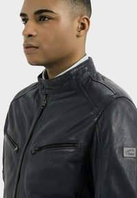 camel active - Leather jacket - navy - 3