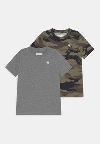 Abercrombie & Fitch - CREW 2 PACK - Camiseta estampada - grey - 0