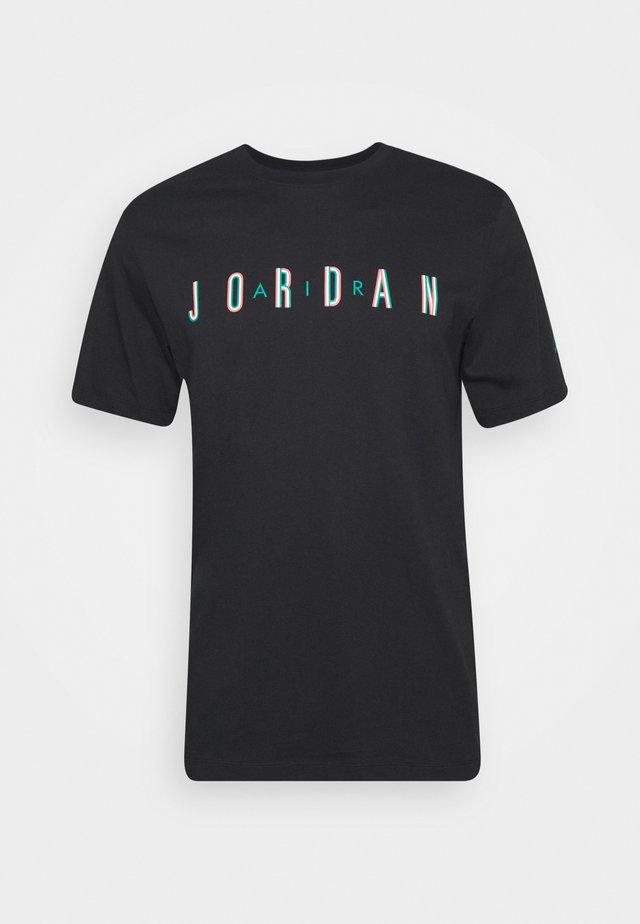 SPORT DNA CREW - Camiseta estampada - black