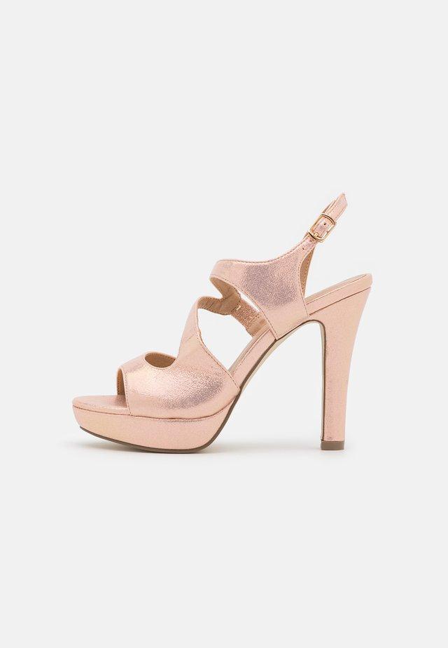 Sandály na vysokém podpatku - even rose