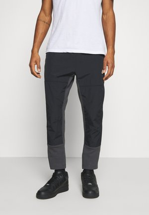 PANT - Jogginghose - dark smoke grey/black/ice silver/white