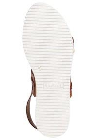 Tamaris - Wedge sandals - cognac/croco - 4