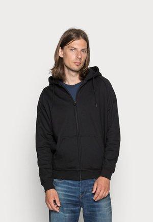 ZIP HOODY - Sweater met rits - black