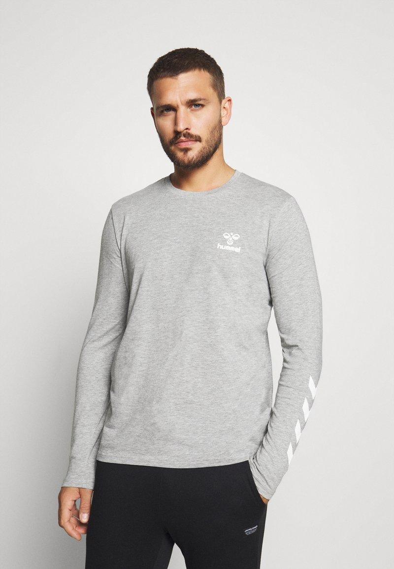 Hummel - HMLSIGGE - Langærmede T-shirts - grey melange
