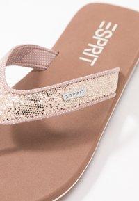 Esprit - GLITTER THONGS - T-bar sandals - cream beige - 2