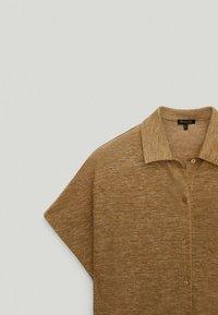 Massimo Dutti - Button-down blouse - brown - 5