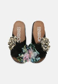 Colors of California - BES WITH FLOWER MIX - Mules à talons - black - 4