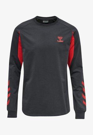 HMLACTION  - Sweatshirt - ebony/flame scarlet