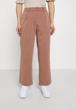 NMALMOND DAD PANT PETITE - Trousers - partridge melange