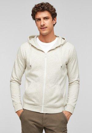 JAS - Zip-up hoodie - beige melange