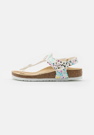 KAIRO KIDS CONFETTI POP - T-bar sandals - white