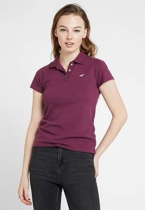 SHORT SLEEVE CORE - Polo shirt - grape wine