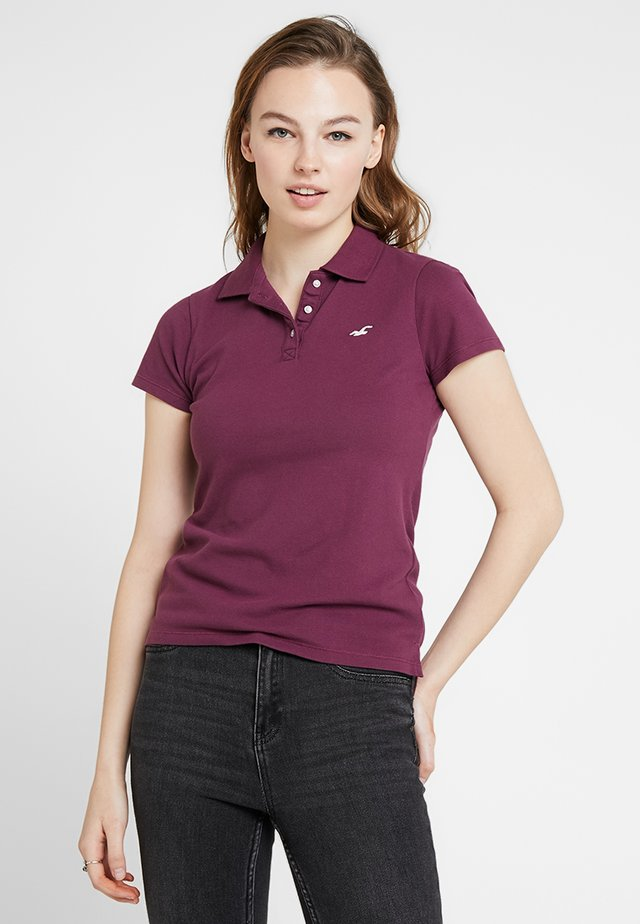 SHORT SLEEVE CORE - Polo - grape wine