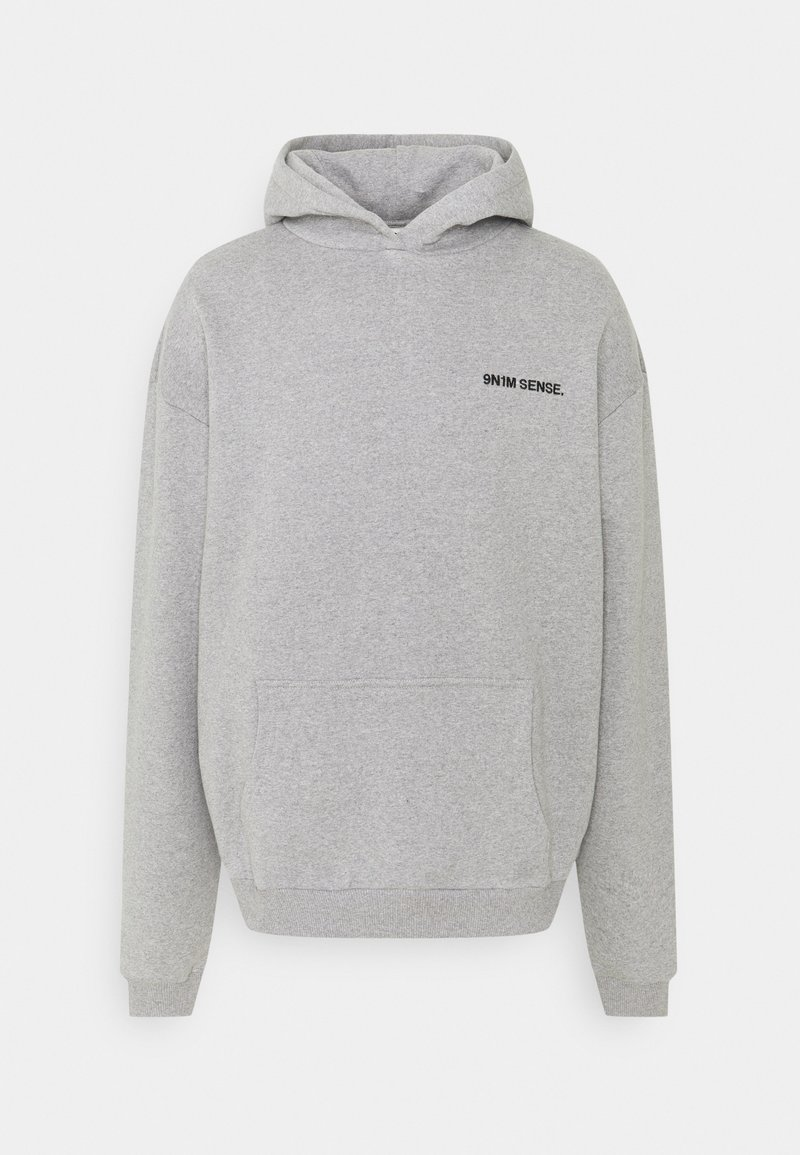 9N1M SENSE - LOGO HOODIE UNISEX - Sweatshirt - grey marl