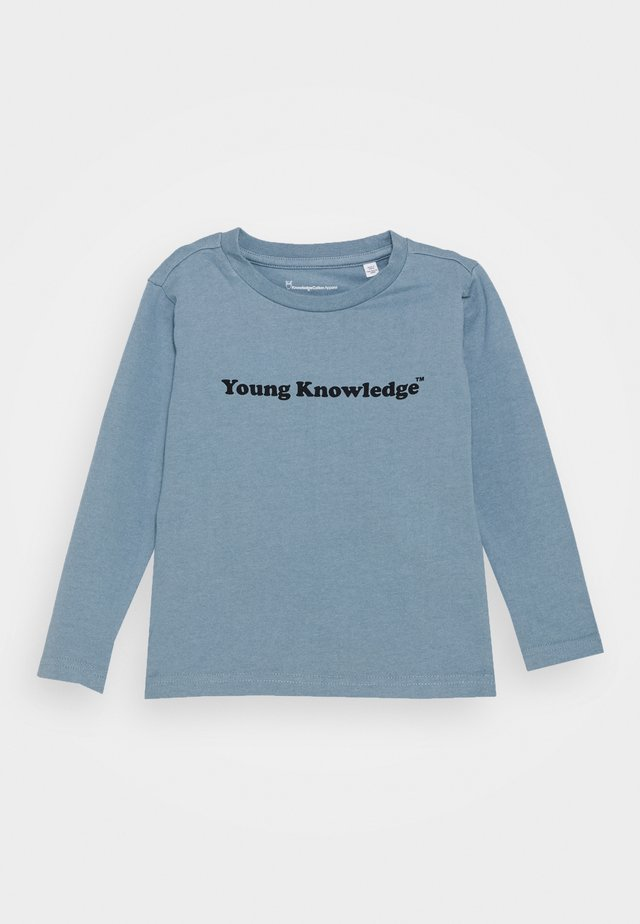FLAX YOUNG LONG SLEEVE - T-shirt à manches longues - asley blue