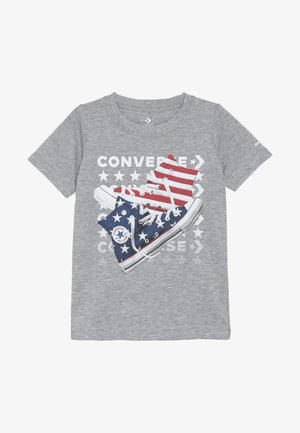 AMERICANA SHOES TEE - Print T-shirt - dark grey heather